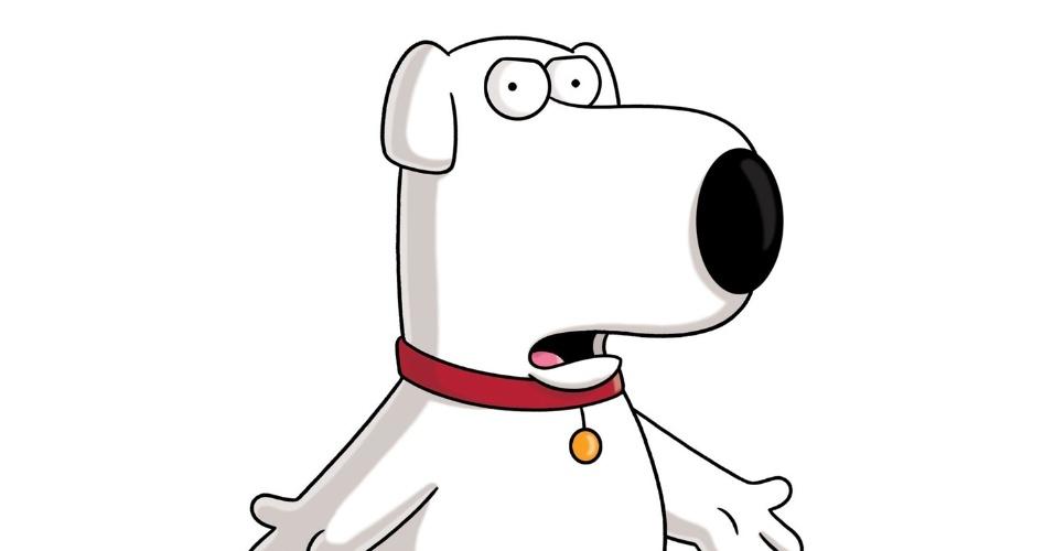 """O cão Brian, que na nova temporada de """"Family Guy"""" come cogumelos alucinógenos (29/3/2012)"""
