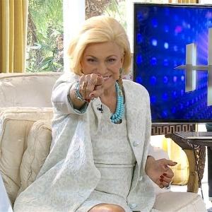 A apresentadora Hebe Camargo grava vinhetas para seu programa na RedeTV! (2/4/12)