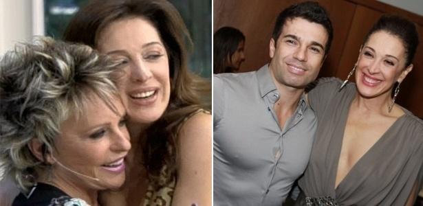 Claudia Raia com Ana Maria Braga no