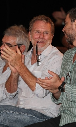 """Jonas Boch na coletiva de imprensa de """"Máscaras"""", no RecNov, zona oeste do Rio (3/4/2012)"""