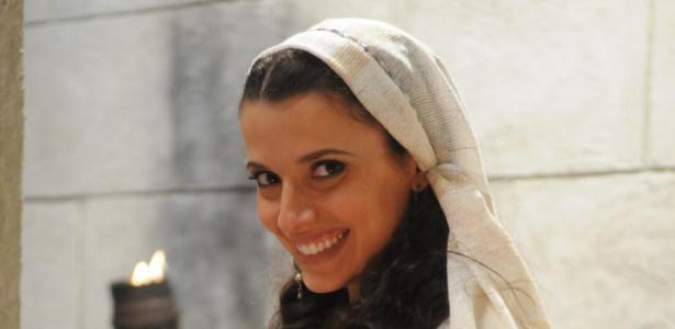"""A atriz Julia Fajardo em cena de """"Rei Davi"""""""