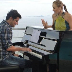 Marcelo Serrado e Angélica no programa