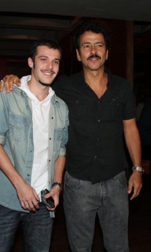 "Jayme Matarazzo e Marcos Palmeira prestigiam o primeiro capítulo da novela ""Cheias de Charme"" na zona sul do Rio (16/4/2012)"