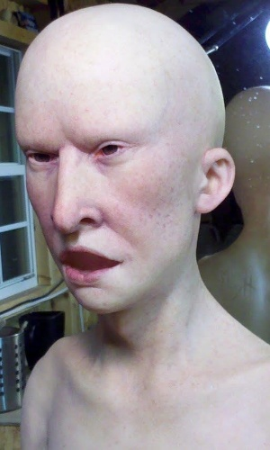 Boneco representando o personagem Beavis é fotografado ainda sem cabelos