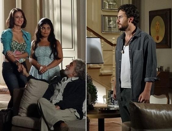 """Em """"Amor Eterno Amor"""", Rodrigo aceita se casar com Valéria se ela fizer outro exame de gravidez (19/4/12)"""