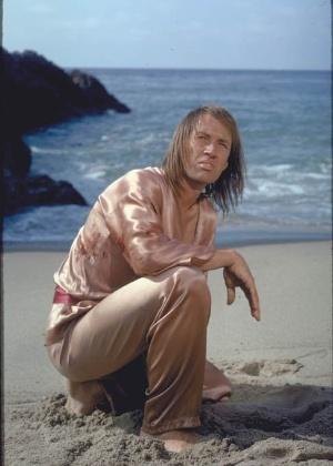"""O ator David Carradine em cena da série """"Kung Fu"""""""