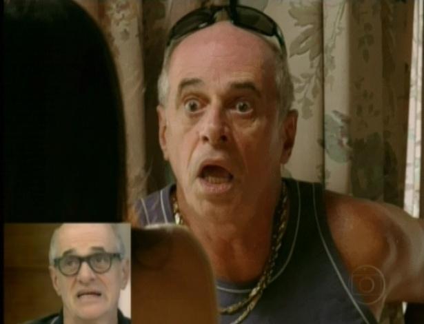 """""""Eu acho que o Adauto e a Tessália realmente estão apaixonados por essas duas pessoas mais velhas [Muricy e Leleco]. O Leleco e a Muricy estão encantados com essa possibilidade de 'carne dura'"""", disse Caruso, aos risos (25/4/12)"""
