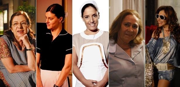 Walderez de Barros, Cláudia Missura, Kátia Moraes, Ilva Ninõ e Vera Mancini: empregadas de destaque na TV