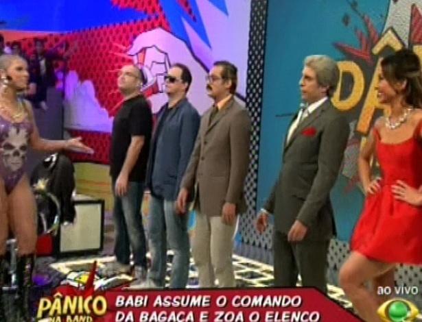 """Apresentadores dançam no lugar das panicats no """"Pânico da Band"""" (29/4/12)"""