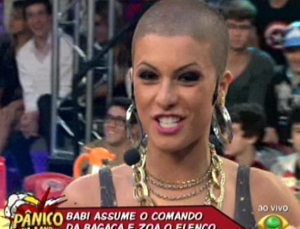 """Babi Rossi apresentou """"Pânico na Band"""" neste domingo (29/4/12)"""