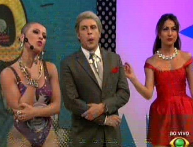 """Ceará, Sabrina e os outros apresentadores do """"Pânico na Band"""" trocaram de lugar com as Panicats (29/4/12)"""