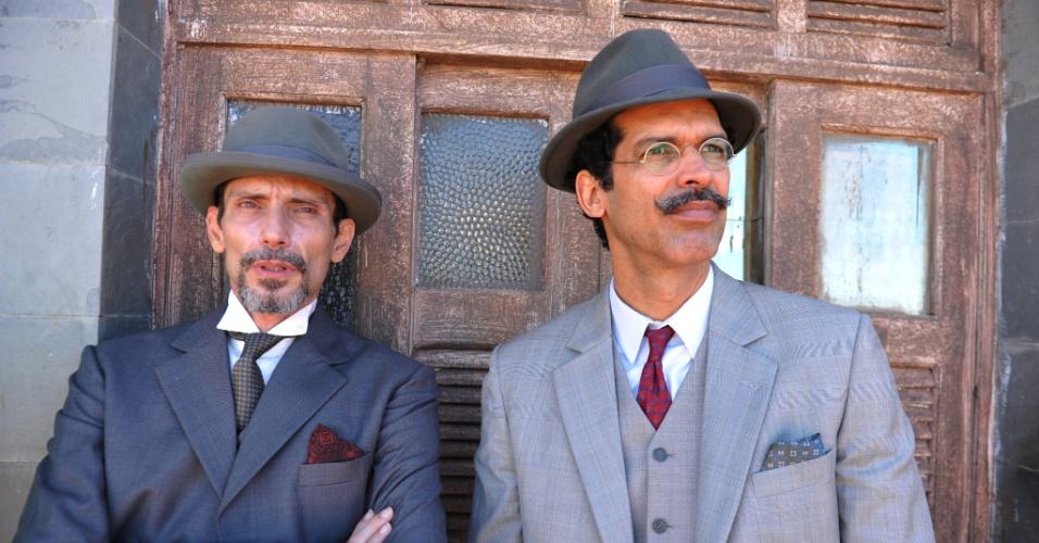 """Jackson Costa e Ilya São Paulo intepretam Douglas e Dr. Pelópidas, respectivamente, em """"Gabriela"""" (30/4/12)"""
