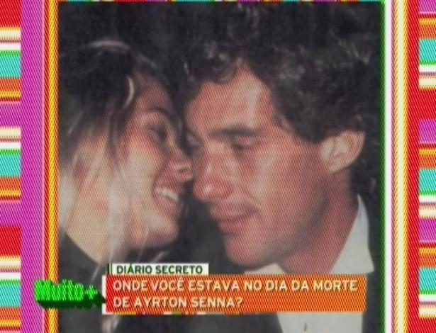 """No aniversário de 18 anos da morte de Ayrton Senna, Adriane Galisteu, ex-namorada do piloto, fez uma homenagem a ele no programa """"Muito Mais Galisteu"""", da Band. """"Independentemente da minha história com ele, sinto falta dele como ídolo brasileiro. Essa é uma história que guardo com muito carinho no meu coração. A minha ficha só caiu quando eu cheguei ao Brasil"""", diz a apresentadora sobre a morte de Senna  (1/5/12)"""