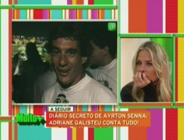 """No aniversário de 18 anos da morte de Ayrton Senna, Adriane Galisteu, ex-namorada do piloto, fez uma homenagem a ele no programa """"Muito Mais Galisteu"""", da Band. """"Independentemente da minha história com ele, sinto falta dele como ídolo brasileiro. Essa é uma história que guardo com muito carinho no meu coração. A minha ficha só caiu quando eu cheguei ao Brasil"""", diz a apresentadora sobre a morte de Senna. No dia do acidente, Adriane pediu para o namorado não competir (1/5/12)"""