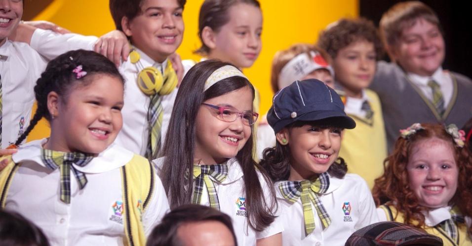 """Elenco infantil de """"Carrossel"""" em coletiva da novela (7/5/12)"""