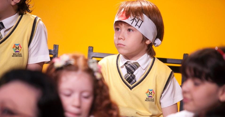 """Matheus Ueta, que interpreta o Kokimoto, assiste à coletiva de """"Carrossel"""" (7/5/12)"""