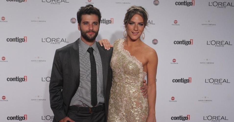 Bruno Gagliasso e Giovanna Ewbank no 14º Prêmio Contigo! de TV, no hotel Copacabana Palace, no Rio de Janeiro (14/5/2012)