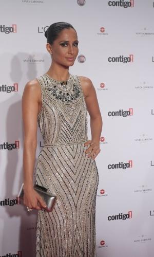Camila Pitanga no 14º Prêmio Contigo! de TV, no hotel Copacabana Palace, no Rio de Janeiro (14/5/2012)