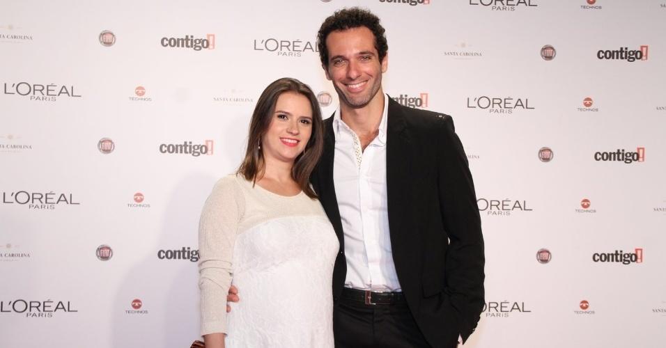 Clarissa Eye e o ator Mouhamed Harfouch no 14º Prêmio Contigo! de TV, no hotel Copacabana Palace, no Rio de Janeiro (14/5/2012)