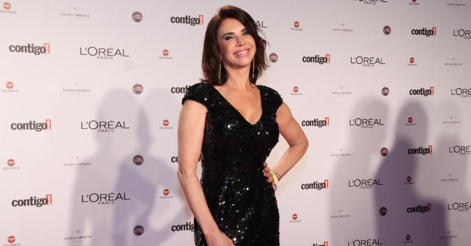 Cláudia Alencar no 14º Prêmio Contigo! de TV, no hotel Copacabana Palace, no Rio de Janeiro (14/5/2012)