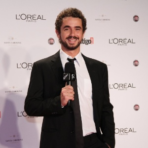 Felipe Andreoli no 14º Prêmio Contigo! de TV, no hotel Copacabana Palace, no Rio de Janeiro (14/5/2012)