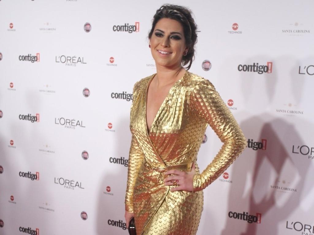 Fernanda Paes Leme no 14º Prêmio Contigo! de TV, no hotel Copacabana Palace, no Rio de Janeiro (14/5/2012)
