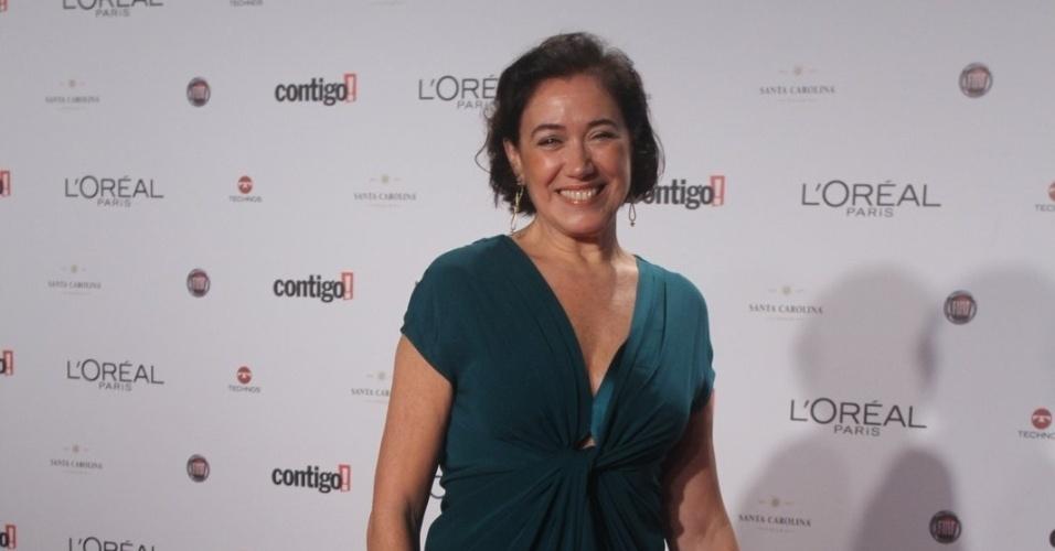 Lília Cabral no 14º Prêmio Contigo! de TV, no hotel Copacabana Palace, no Rio de Janeiro (14/5/2012)
