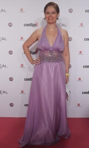 Narjara Turetta no 14º Prêmio Contigo! de TV, no hotel Copacabana Palace, no Rio de Janeiro (14/5/2012)