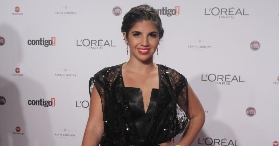 Natália Soutto no 14º Prêmio Contigo! de TV, no hotel Copacabana Palace, no Rio de Janeiro (14/5/2012)