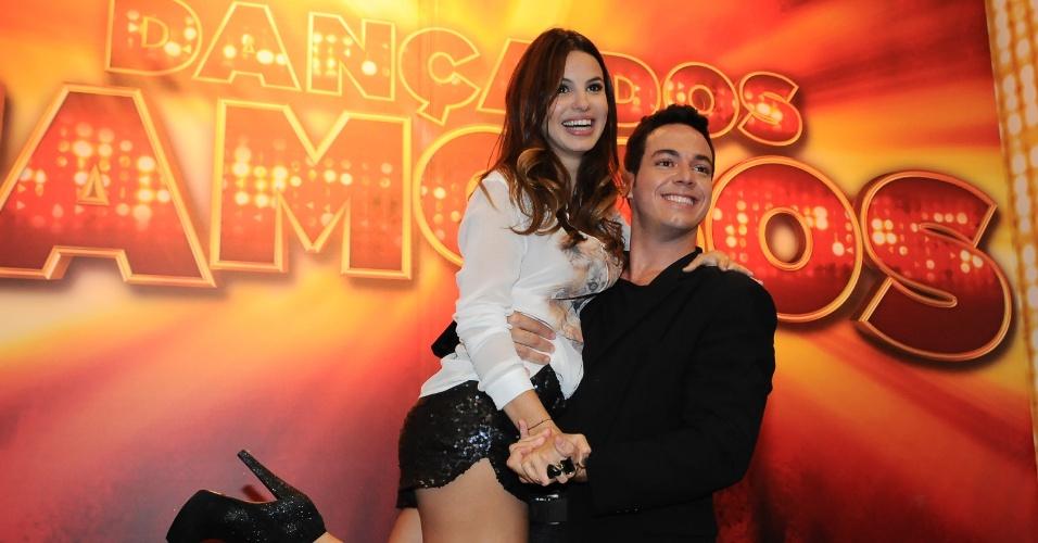 """Sthefany Brito e Leandro Azevedo formam par na """"Dança dos Famosos 2012"""" (13/5/12)"""