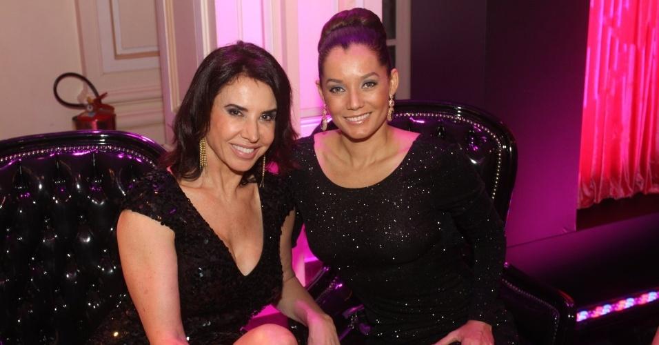 As atrizes Cláudia Alencar e Mônica Carvalho na 14ª edição do Prêmio Contigo! de TV (14/5/12)