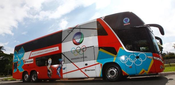 Ônibus Olímpico da Record vai percorrer 13 mil quilômetros no Brasil (17/05/2012)
