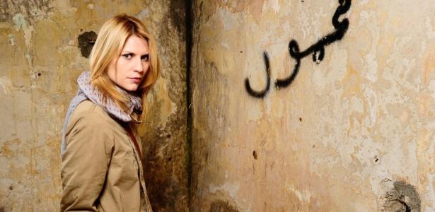"""Claire Danes interpreta a agente da CIA Carrie Mathison na série """"Homeland"""""""