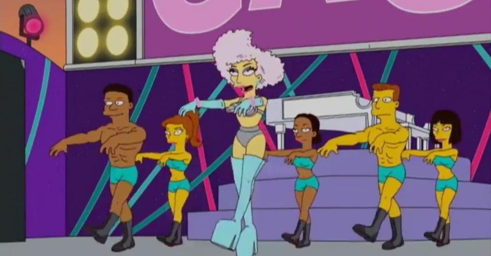 """Cena da participação de Lady Gaga em """"Os Simpsons"""" (20/5/12)"""