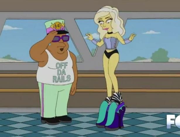 """Lady Gaga calça par de sapatos altos em """"Os Simpsons"""" (20/5/12)"""