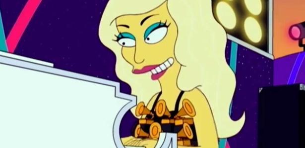 """Lady Gaga toca piano durante participação no desenho """"Os Simpsons"""" (20/5/12)"""