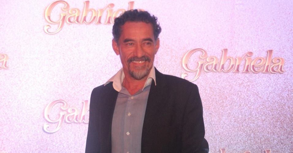 """Ator Chico Diaz, interpreta o coronel Melk em """"Gabriela"""" (21/5/12)"""