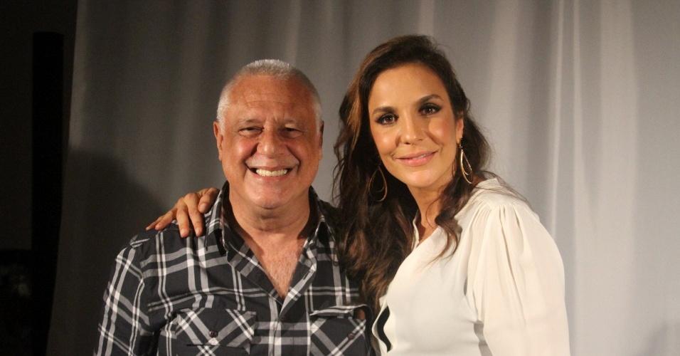 """O ator Antônio Fagundes e a cantora Ivete Sangalo na apresentação de """"Gabriela"""" (21/5/12)"""