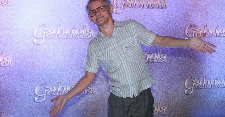 """O ator Genro Camilo na apresentação de """"Gabriela"""" na Bahia (21/5/12)"""