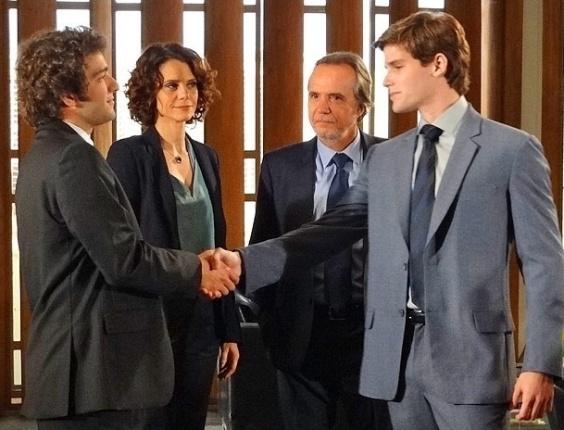 """Em """"Cheias de Charme"""", Elano vai trabalhar com Conrado no escritório de Sarmento (30/5/12)"""