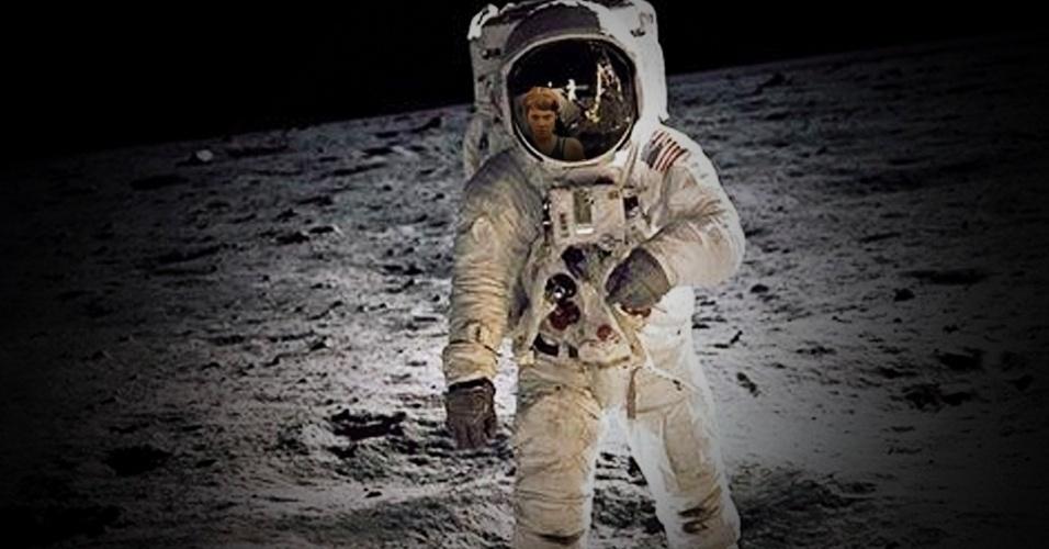 Nina também acompanhou a chegada do homem à Lua, embora pareça não ter gostado muito
