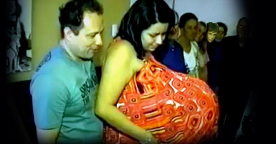 Nina também foi uma das que caiu no conto da falsa grávida de Taubaté