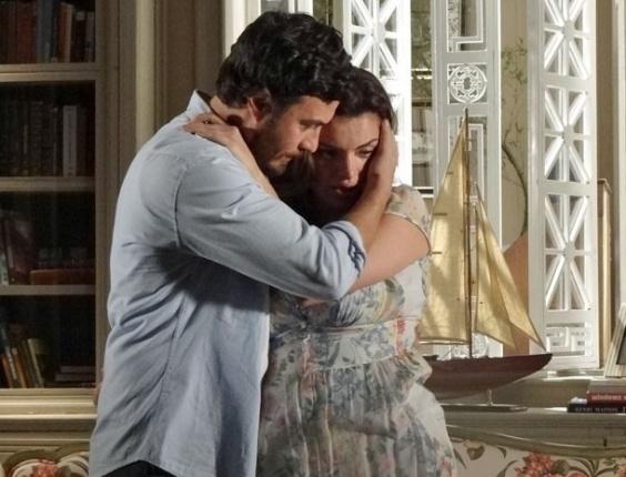 """Gabriel Braga Nunes e Mayana Neiva em cena de """"Amor Eterno Amor"""" (6/6/2012)"""