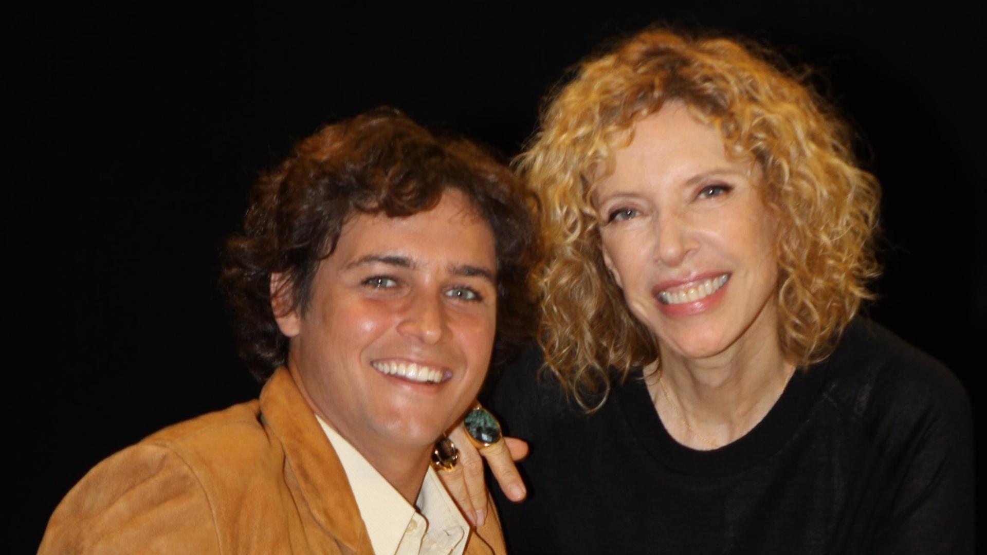 Felipe Dylon e Marília Gabriela no