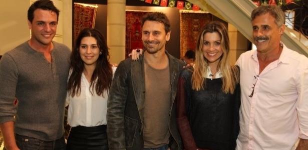 Os atores Rodrigo Lombardi, Fernanda Paes Leme, Murilo Rosa, Flávia Alessandra e Oscar Magrini participam do workshop para a novela