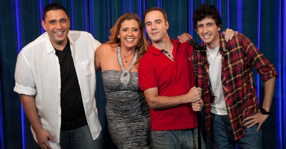 Rita Cadillac com Felipe Absalão, Diogo Portugal e Afonso Padilha