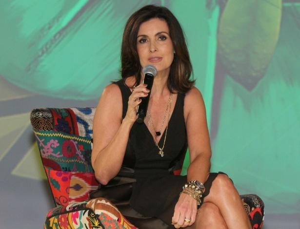 Fátima Bernardes fala sobre seu novo programa em entrevista coletiva, no Projac, no Rio (12/6/12)