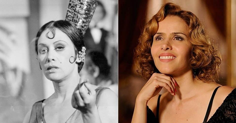 """Da esquerda para a direita, as atrizes Dina Sfat e Leona Cavalli em cena de """"Gabriela"""""""