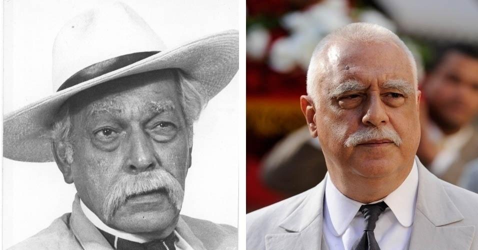Da esquerda para a direita, os atores Paulo Gracindo e Antônio Fagundes em cena de