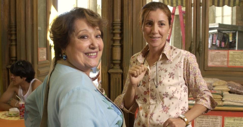 """Suely Franco e Cássia Kiss em cena de """"Sabor da Paixão"""" (2002)"""